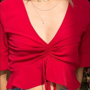 Forever 21 cropped blouse